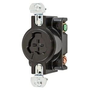 Hubbell-Wiring Kellems HBL23000G H/LOCK RCPT, 2P3W, 20A 125V/10A 250V