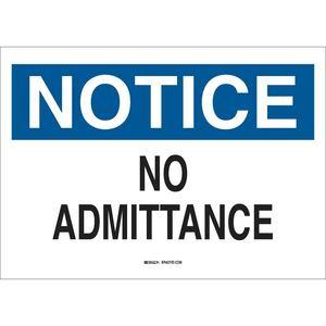 40711 ADMITTANCE SIGN