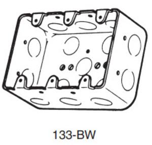 Emergi-Lite 133-BW 4x5-3/4,3 Gang Bx,stl,44.3cu,1/2-ko