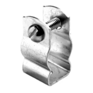 "Bridgeport Fittings 2180 Conduit Hanger With Bolt, Rigid Size: 3-1/2"", EMT: 3-1/2"", Steel/Zinc"