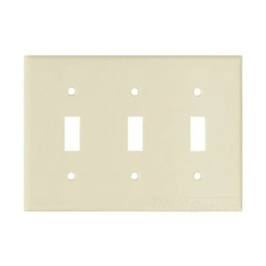 Eaton Wiring Devices 2141A-BOX Wallplate 3G Toggle Thermoset Std AL