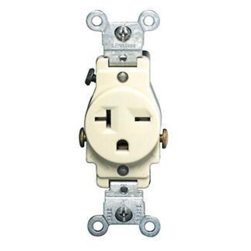 Leviton 5821 I Leviton 5821 I Single Receptacle 20a 250v 6 20r Ivory Side Wired Rexel Usa