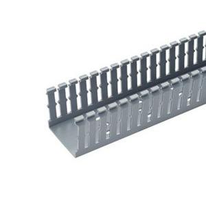 "Panduit F6X4LG6 Wiring Duct,  Narrow Slot, 6"" x 4"" x 6', PVC, Gray"
