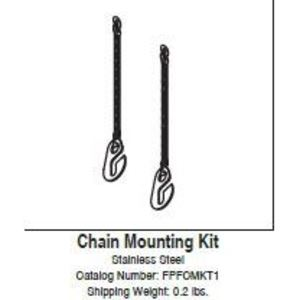 Rig-A-Lite FPFCMKT1 Chain Mounting Kit, Stainless Steel, FPF2 Series
