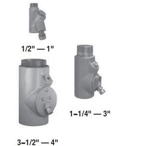 "Appleton EYD36 Conduit Seal, 1"", Male/Female, Vertical (25% Fill), Malleable"