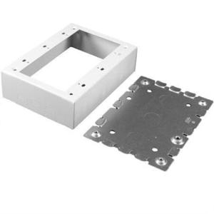 Wiremold V5748-3 Switch/Receptacle Box, 3-Gang, 500/700 Series Raceway, Ivory