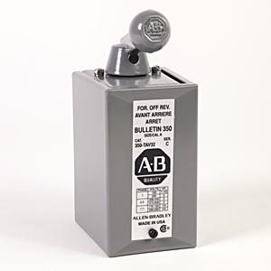 Allen-Bradley 350-TAV34 Switch, Reversing Drum, Oiltight Cavity Mount, Size A, No Interlock