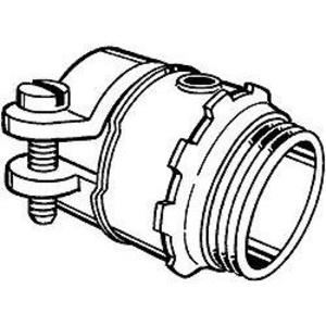 """Hubbell-Raco 2198 AC Cable Connector, 2"""", Squeeze Type, Non-Insulated, Zinc"""