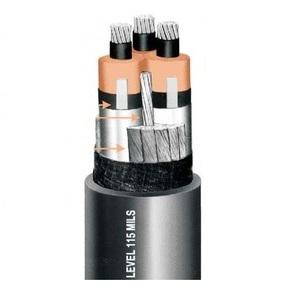 Okonite 114-23-3736 Power Cable, MV-105, 4/0-3, Shielded, Direct Burial, Copper, Class B