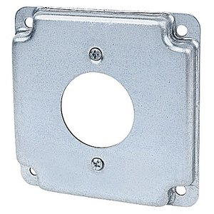 "Steel City RS-4 4"" Square Cover, 1/2"" Raised, 1-Device"