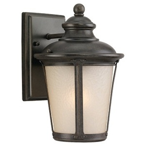 Sea Gull 88240-780 Lantern, Outdoor, 1 Light, 100W, Burled Iron