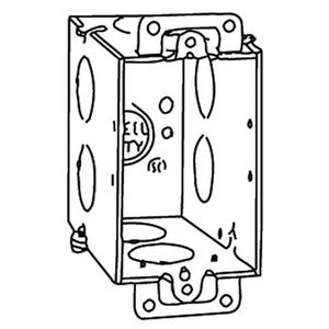 "Steel City CY-3/4 Switch Box, Gangable, 3-1/2"" Deep, Conduit Knockouts, Ears"