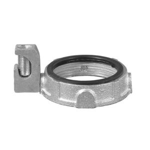 """OZ Gedney IBC-200L-4AC Grounding Bushing, 2"""", Threaded, Insulated, Malleable Iron"""