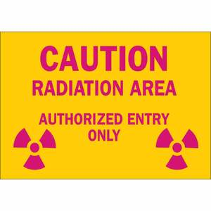 25280 RADIATION & LASER SIGN