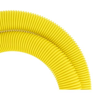 Leviton S50RT-2M Round Convoluted Tube, 50mm/1 Meter, Yellow