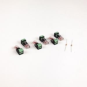 Allen-Bradley AK-U0-RJ45-TB2P Terminal Block, RJ45, 2 Position, 6 Pieces, w/2 120 Ohm Resistors