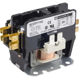 8910DP11V02 1P DP CONTACTOR 20A 120VAC