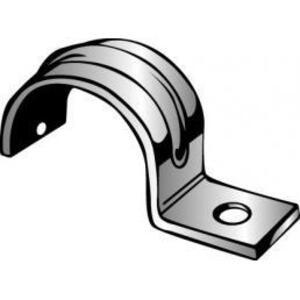 "Minerallac MINE30 Pipe Strap, 1-Hole, Size: 1/2"", Steel/Galvanized"