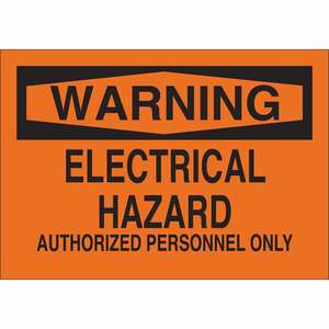 22197 ELECTRICAL HAZARD SIGN