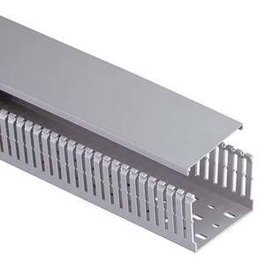 Panduit MC25X37IG2 Wiring Duct, Narrow Slot, 25 mm W x 37 mm H x 2m Long, PVC, Gray