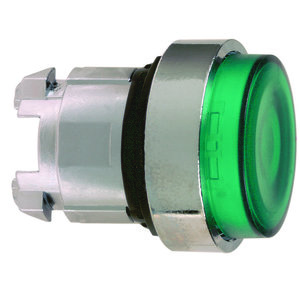 Square D ZB4BW133 Push Button, Illuminated, White, 22.5mm, Extended, Operator Only