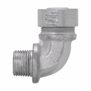 """Cooper Crouse-Hinds CG7590350 Cord Grip, 90°, Strain-Relief, Liquidtight, 3/4"""", Malleable Iron"""