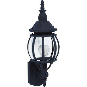 Maxim Lighting 1032BK Outdoor Wall Lantern, 1-Light,  60W, Incandescent, Black