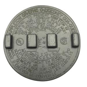 "Appleton GRK-1 Conduit Outlet Box Cover, Diameter: 3.38"", Aluminum"