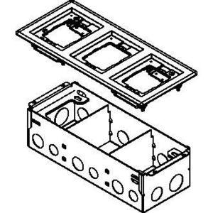 Wiremold 880W3837B FLOOR BOX W/3 GANG BRASS FLANGE