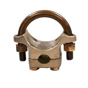 "OZ Gedney G-200G Cold Water Ground Clamp, 1-1/4"" to 2"" Pipe, Malleable"