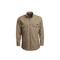 Workrite Uniform 258MH70KH/REGULAR/SM/VELSLVGAP Dress Shirt, Long Sleeves, 7oz, Nomex MHP, Khaki, S, Regular
