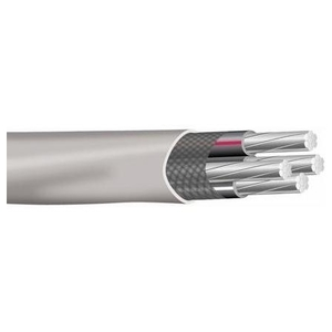Multiple SEU4/04/04/02500RL Service Entrance Cable, SEU, Aluminum, 4/0-2, 2500'