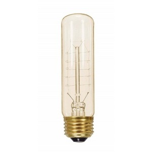 Satco S2426 Incandescent Vintage Lamp, 40 watt, T9, Clear, Medium Base, 120V