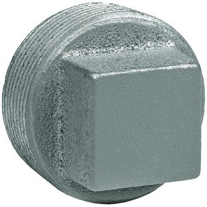"Hubbell-Killark PLUG1-SQ 1/2"" Steel, (Zinc Plated) Threaded Insert Plug, Square Head"