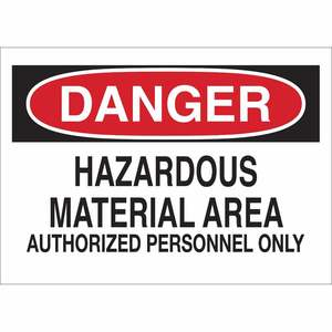 25442 CHEMICAL & HAZD MATERIALS SIGN