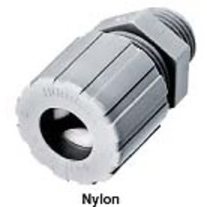 "Hubbell-Kellems SHC1021CR 1/2"" Nylon Straight Cord Connector, F2 Form, Gray, 0.19-0.25"""