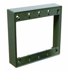 Hubbell-Raco 5407-0 Weatherproof Box Extension. 2-Gang, Die Cast