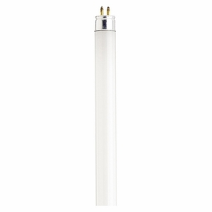 Satco S1907 Fluorescent Lamp, 13 Watt, T5, Warm White, Miniature Bi Pin