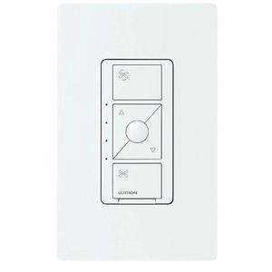Lutron PD-FSQN-WH Smart Fan Speed Control, White