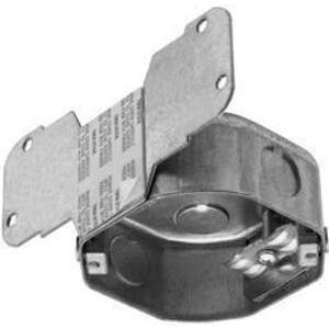 """Appleton FFS561LDVBNW 2-1/8"""" Deep, 4"""" Octagon Ceiling Box with Bracket"""