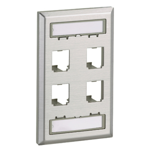 CFPL4SY CLASSIC STAINLESS FACEPLATE 4P