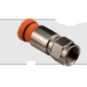 Belden SNS1P59 F Connector, Sealed, RG59 Cable, 1-Piece Compression, Orange