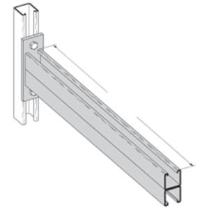 Cooper B-Line B297-30HDG Double Channel Bracket, 30-in., Hot Dip Galvanized