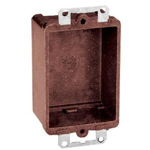 Thomas & Betts 7090 Switch/Outlet Box, 1-Gang, Non-Metallic