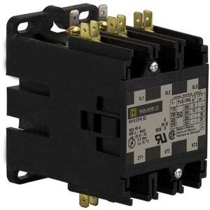 Square D 8910DPA53V02 Contactor, Definite Purpose, 50A, 600VAC, 120VAC Coil, 3PH, 3P