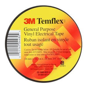 "TEMFLEX VINYL ELECTRICAL TAPE 3/4""X 60FT"