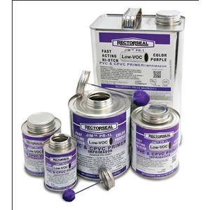 Rectorseal 55918 PVC Primer, Low-VOC, Hi-etch, Purple, Size: 1 Quart