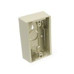 Leviton 42777-1IB Surface-Mount Back Box, 1-Gang, Ivory Fire Retardant  Phenolic