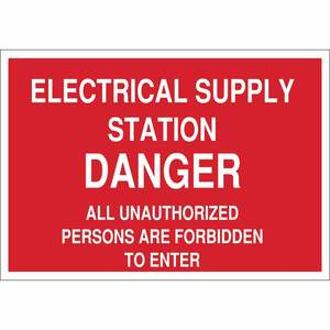22219 ELECTRICAL HAZARD SIGN