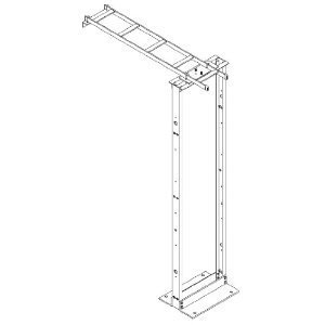 """Chatsworth 11911-712 Cable Runway Wall to Rack Kit, 12"""" Wide, 3"""" Deep, Black"""